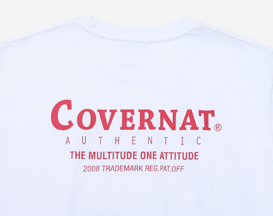 커버낫(COVERNAT) S/S LAYOUT LOGO TEE RED