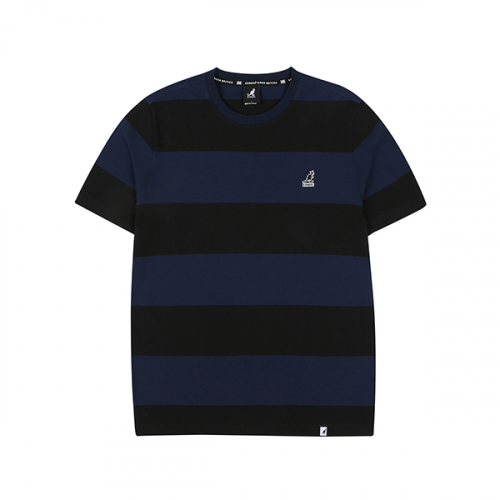 캉골(KANGOL) Rugby Stripe T-shirts 2571 BLACK