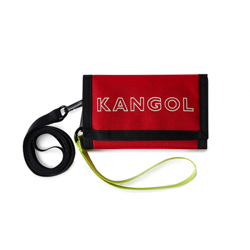 캉골(KANGOL) Font folding Wallet 4018 RED