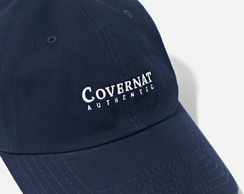 커버낫(COVERNAT) AUTHENTIC LOGO CURVE CAP NAVY