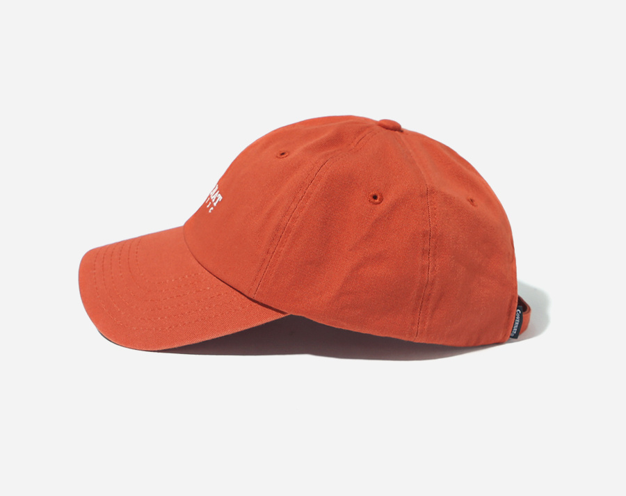 커버낫(COVERNAT) AUTHENTIC LOGO CURVE CAP RUST ORANGE