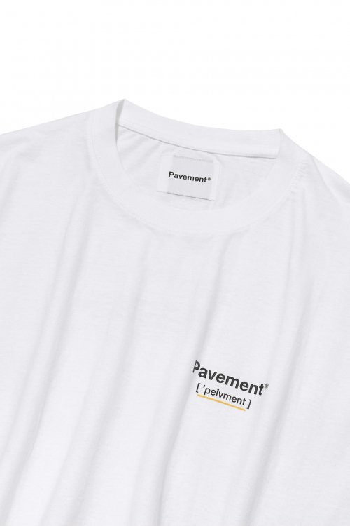 페이브먼트(PAVEMENT) EXAMPLE SHORT SLEEVE IS [WHITE]