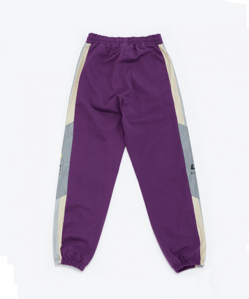 브라만(BRAHMANE) Reflective Sweat Pants Purple