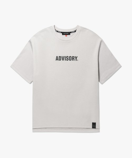 어드바이저리(ADVISORY) Back Print Crew Neck TS - Grey