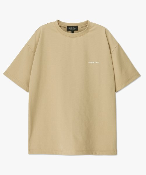 가먼트레이블(GARMENT LABLE) Cooling Short Sleeve Tee - Beige