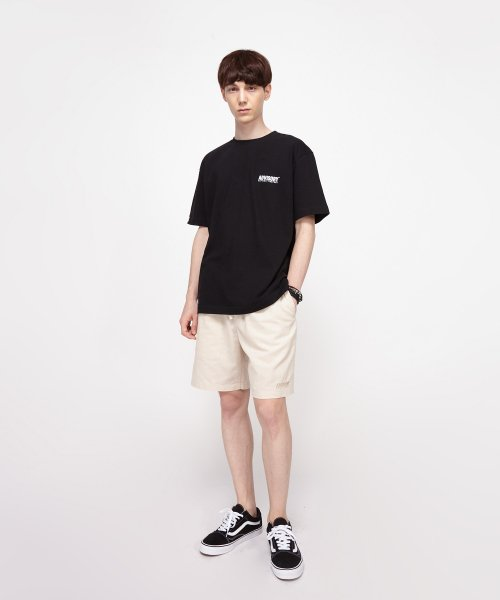 어드바이저리(ADVISORY) Logo Crew Neck T-Shirt - Black