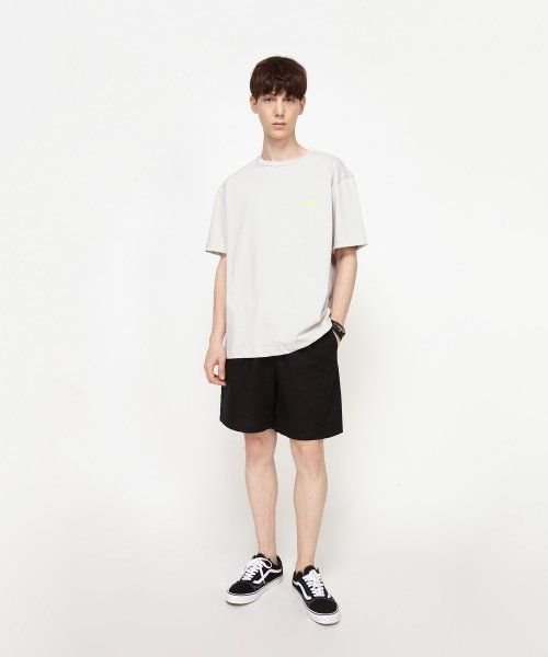 어드바이저리(ADVISORY) Linen Half Pants - Black