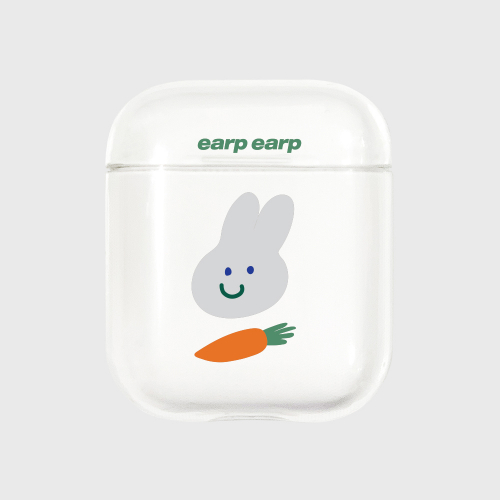 어프어프(EARPEARP) Rabbit carrot-clear(Air pods)