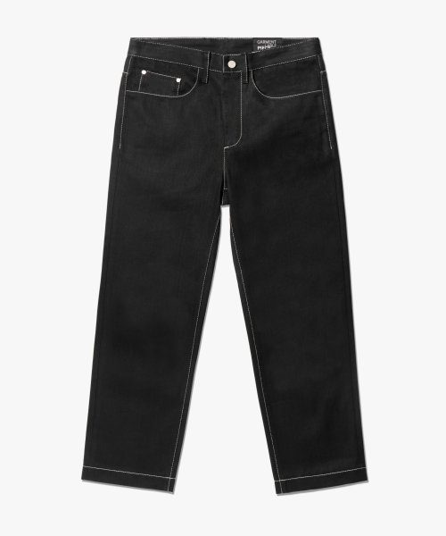 가먼트레이블(GARMENT LABLE) [3차 리오더]Garment Worker Ordinary Jeans / Tapered (Black)