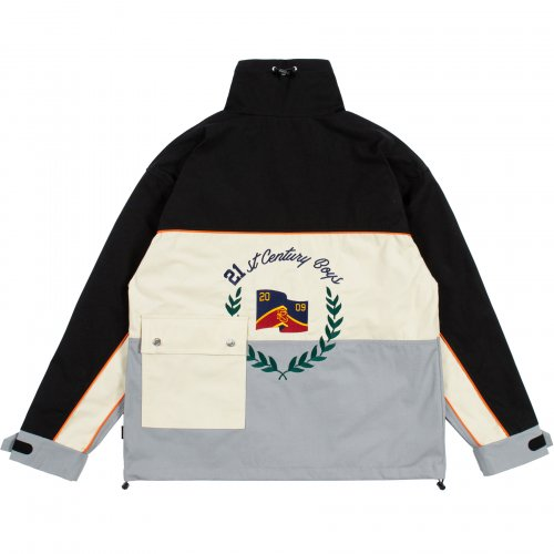 로맨틱크라운(ROMANTIC CROWN) PIPING RACING JACKET_BLACK