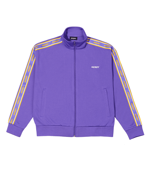 널디(NERDY) Logo Tape Track Top Purple