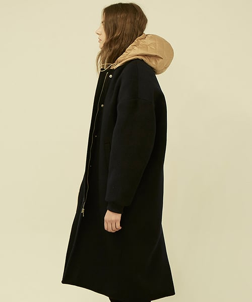 플랙(PLAC) Y HOODED WOOL COAT(POOG4CTLY1W0B7)