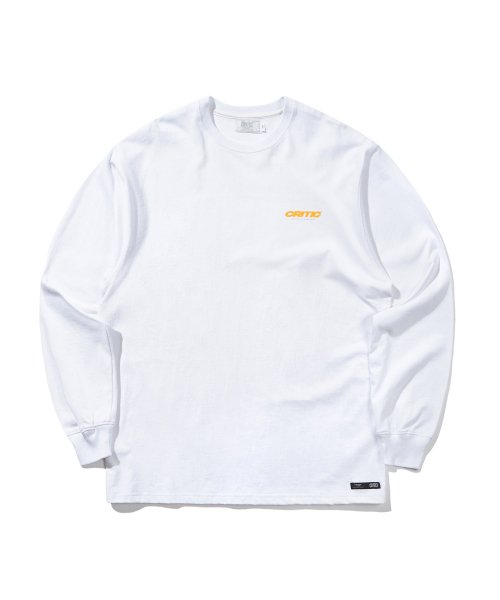 크리틱(CRITIC) BLEND LOGO LONG SLEEVE T-SHIRT(WHITE)_CTONARL01UC2
