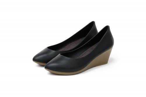 워크앤레스트(WALK&REST) [W6] Wedge Heel6 SHIHOSHI - Black