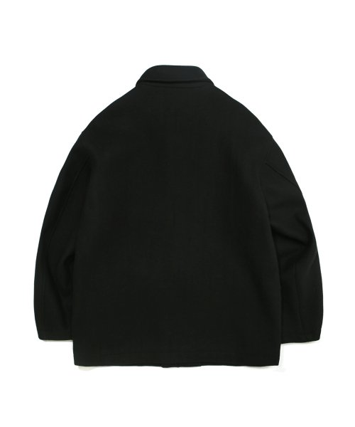 커버낫(COVERNAT) COVERNAT X TWC WOOL SHORT COAT BLACK