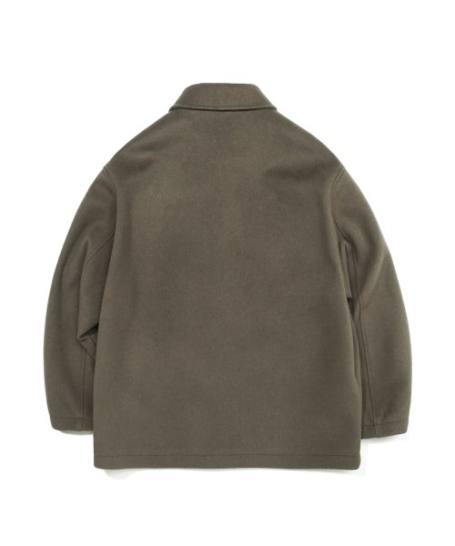 커버낫(COVERNAT) COVERNAT X TWC WOOL SHORT COAT SAGE GREEN