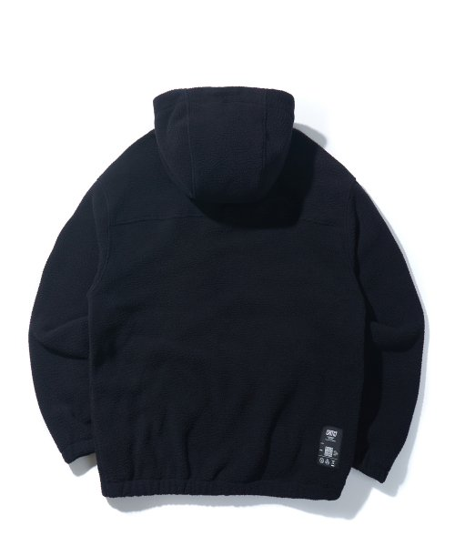 크리틱(CRITIC) HOODED FLEECE JACKET(BLACK)_CTONIJK02UC6