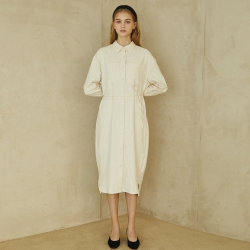 언에디트(ANEDIT) P Pocket Shirt Dress_IV
