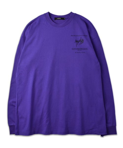 매드마르스(MADMARS) SKETCH LOGO LONG SLEEVE_PURPLE