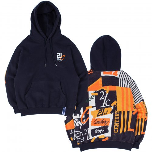 로맨틱크라운(ROMANTIC CROWN) 21C BOYS JACQUARD HOOD_NAVY