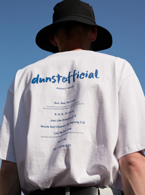 던스트(DUNST) HANDWRITING GRAPHIC T-SHIRT WHITE  UDTS0E112WT