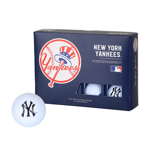 엠엘비골프(MLB GOLF) New York Yankees 3-Layer Golf Ball(12구)