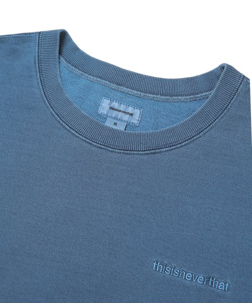 디스이즈네버댓(THISISNEVERTHAT) INTL. Logo Crewneck Blue Grey