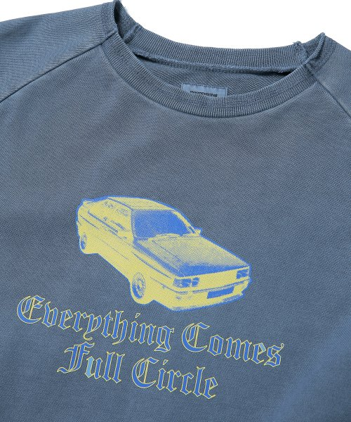 디스이즈네버댓(THISISNEVERTHAT) Old Car Crewneck Blue Grey